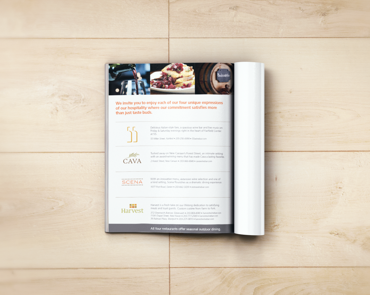 One of many regular advertisements produced for the restaurant.