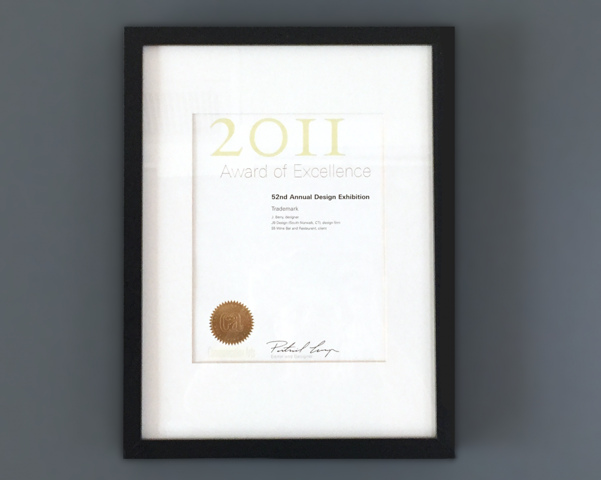 JB Design received an excellence award from Communication Arts for the logo redesign.