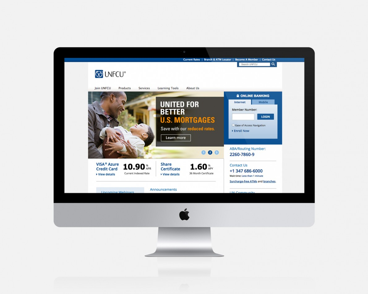 Mortgage campaign landing page promoted via email and print efforts, expounding the benefits of the new Mortgage Campaign
