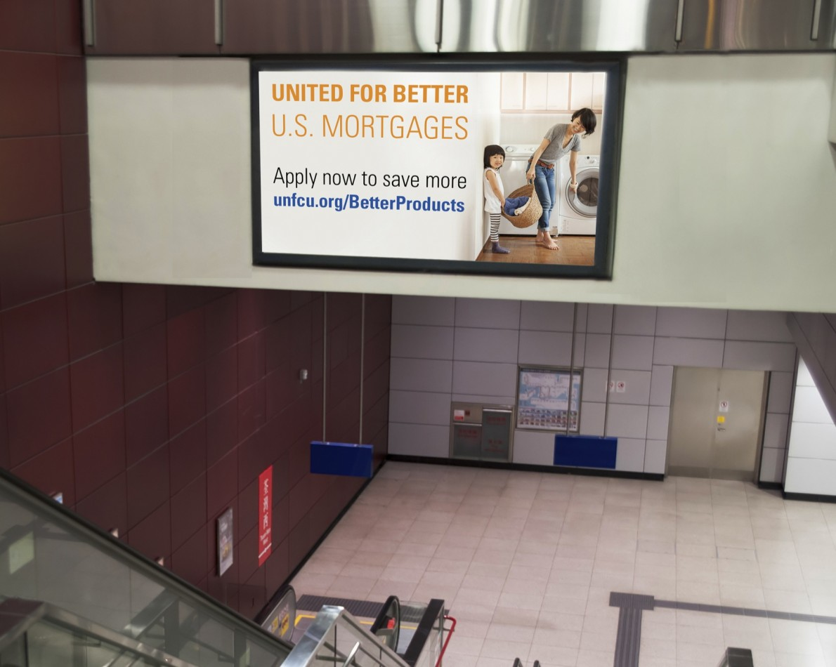 Graphic, easy to read posters played a role in the Mortgage Campaign launch