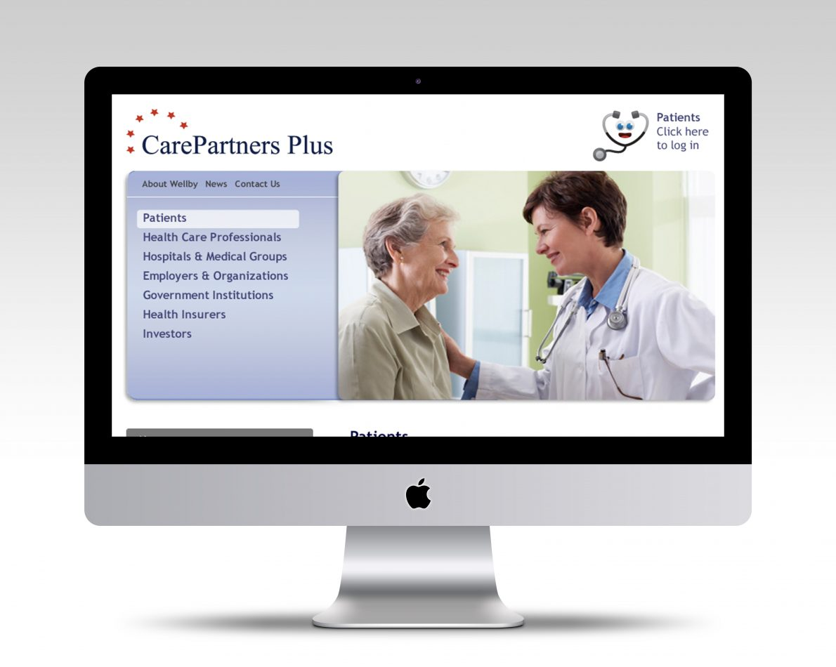 Customer care home page for Wellby.