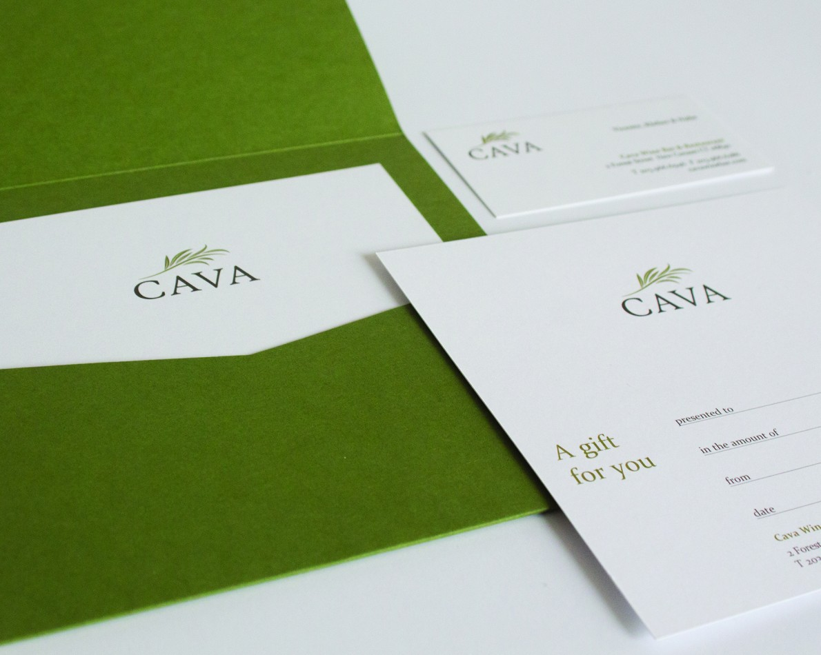 Richly colored collateral design captures the natural vibe of the restaurant.
