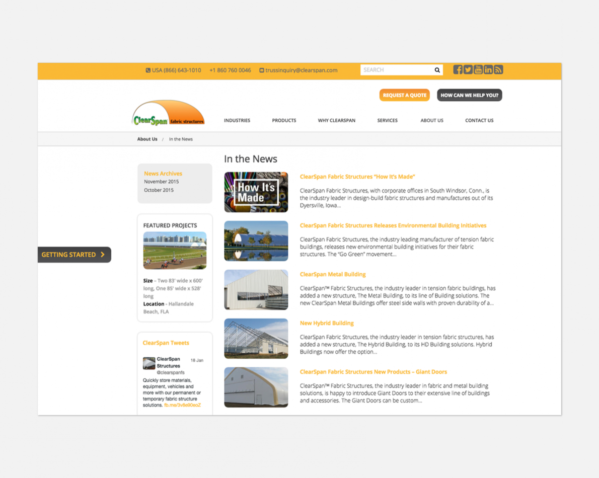 We implemented an easy to use content management system so it can be updated and maintained internally.