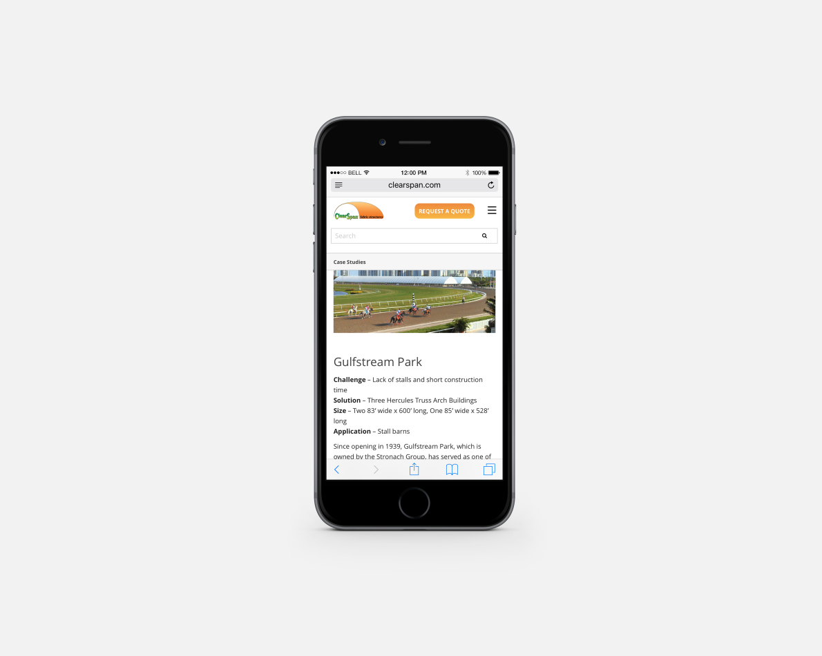 The website was designed to be responsive across multiple devices.