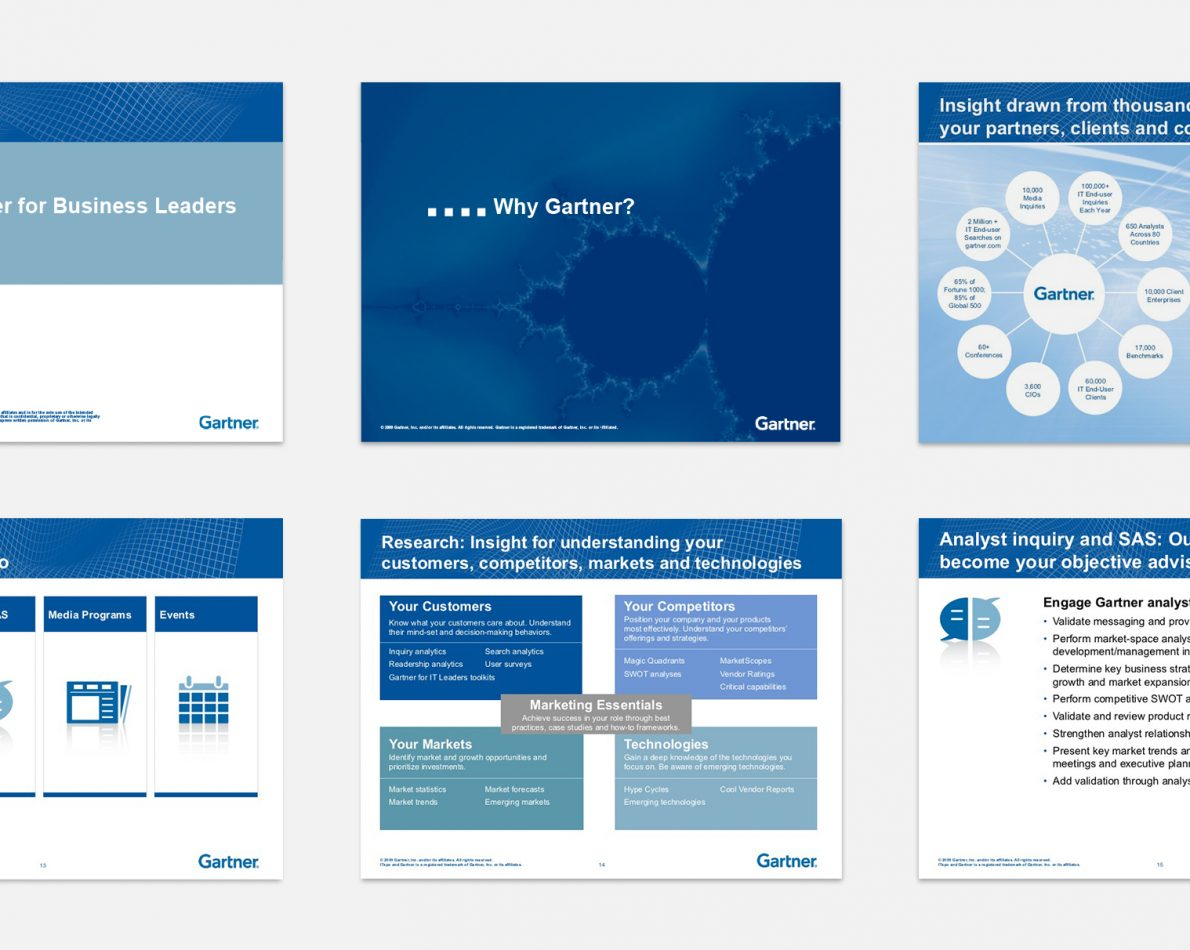 PowerPoint templates to reflect the new visual system.