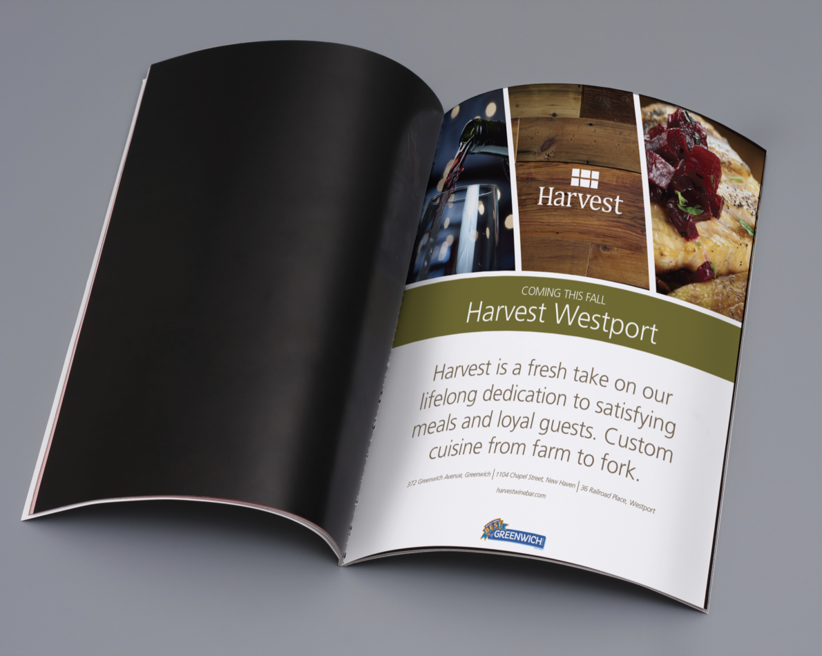 One of the many ongoing advertisements we designed for Harvest.