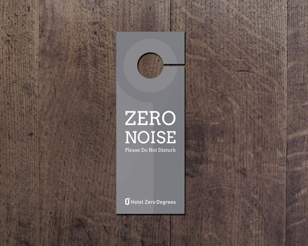 Door tags for privacy.