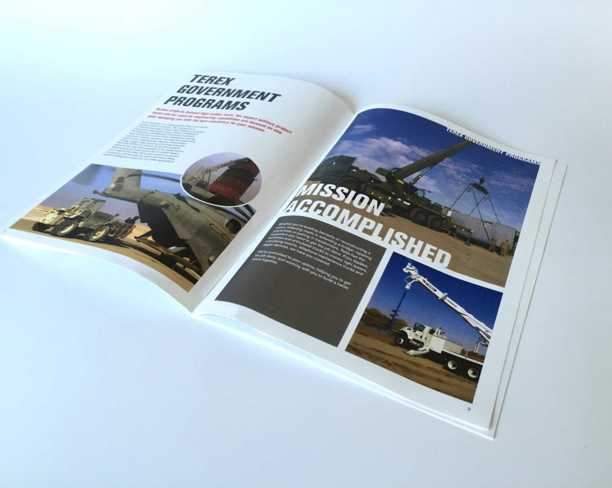 The Military brochure demonstrates the qualities – and impact – of Terex construction equipment