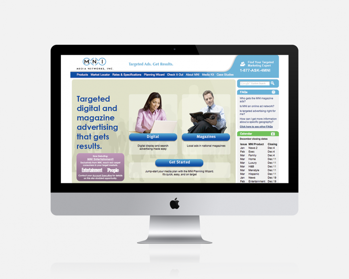 Revamped website lets marketers tailor a plan to their needs, then manage it easily via an XML-based CMS.