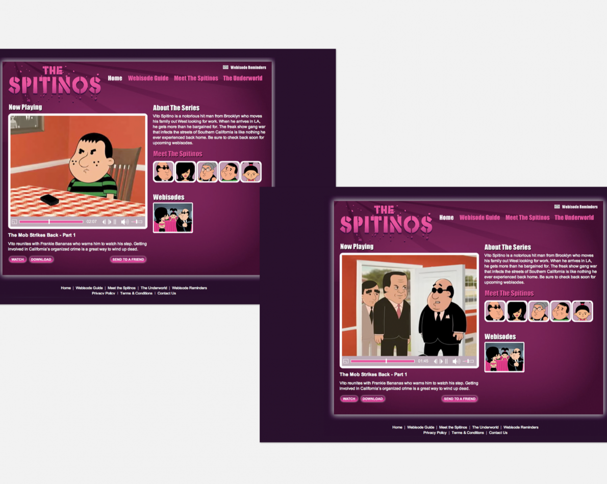 Microsite for The Spitinos.