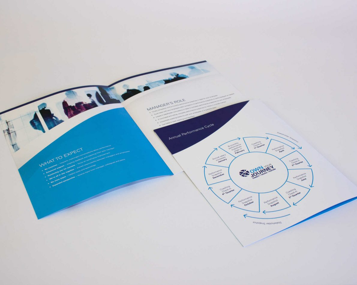 Brochure front and back.