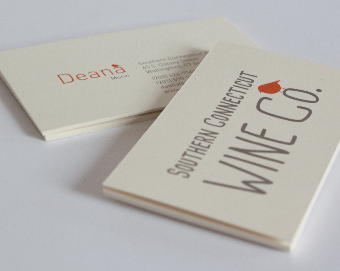 Business cards featuring the logo and a creative use for the robin.