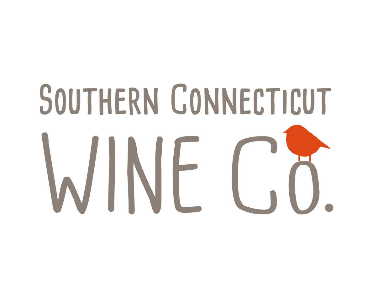 The newly designed logo for Southern Connecticut Wine Co. is instilled with a hand-drawn, artisanal quality.
