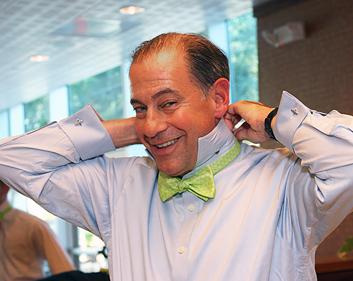 Summit-themed bow ties made their way to the event floor – sometimes when a rebrand makes a statement, it can also be a fashion statement.