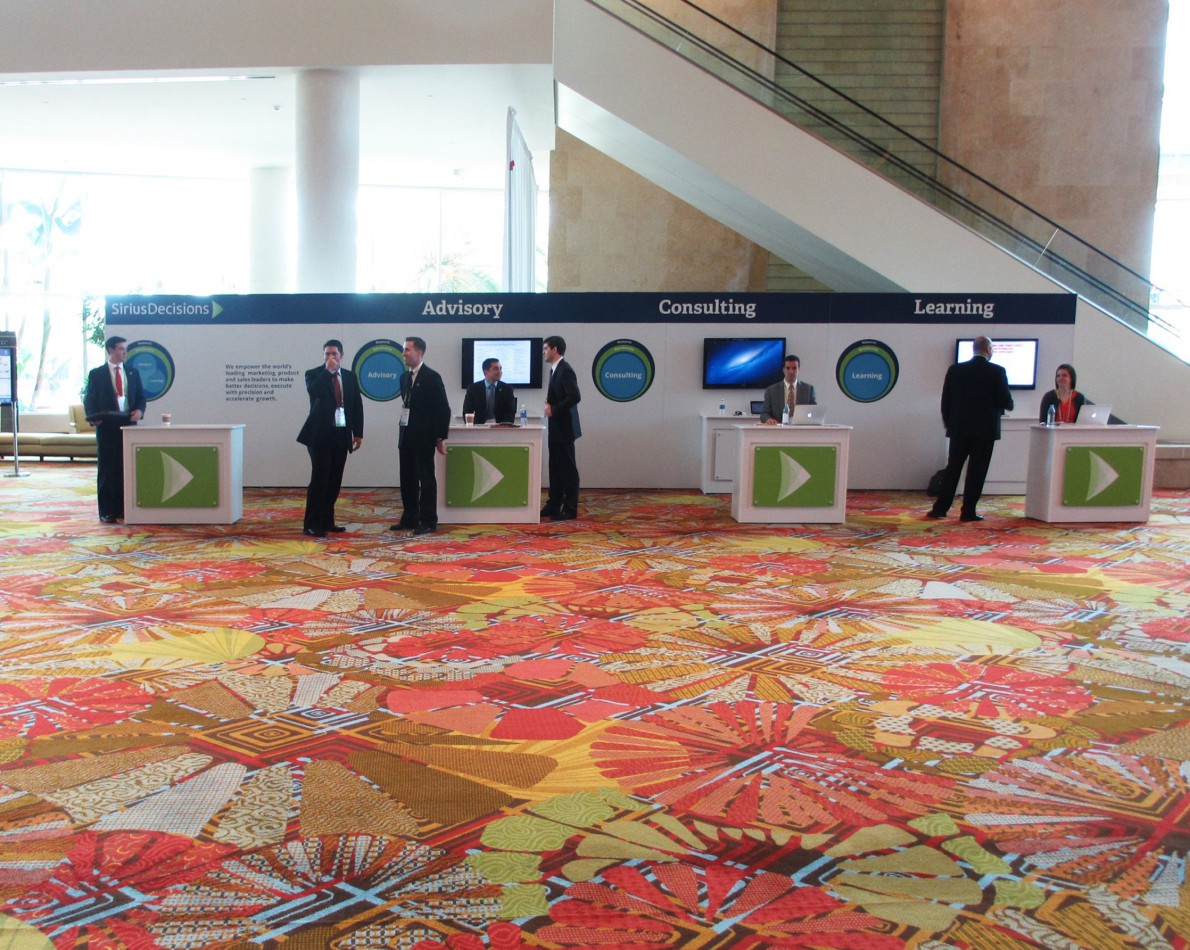 Tradeshow booths were also taken into consideration with the rebranding effort.
