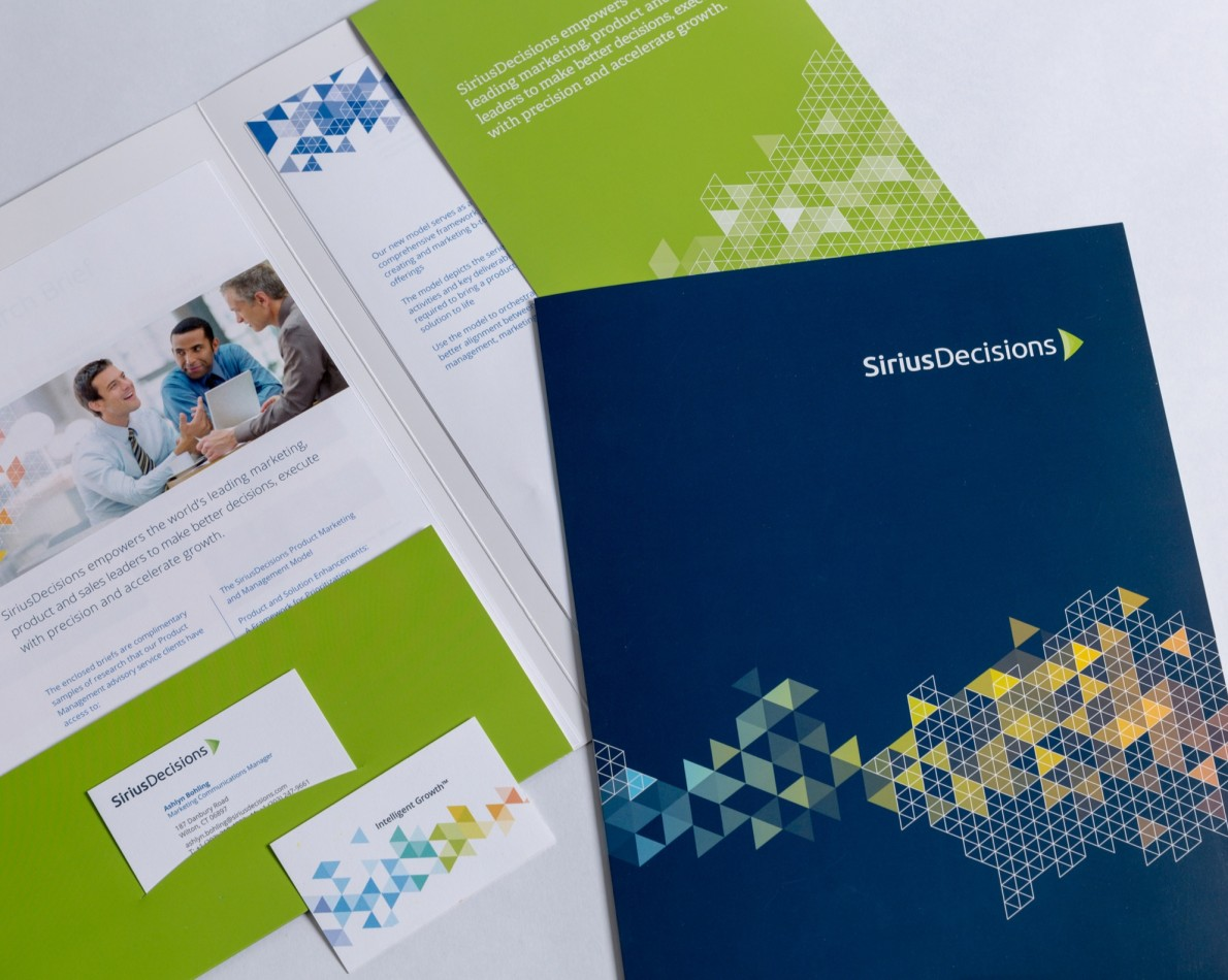 The rebranding extended to the company's all-important print collateral and stationery pieces.