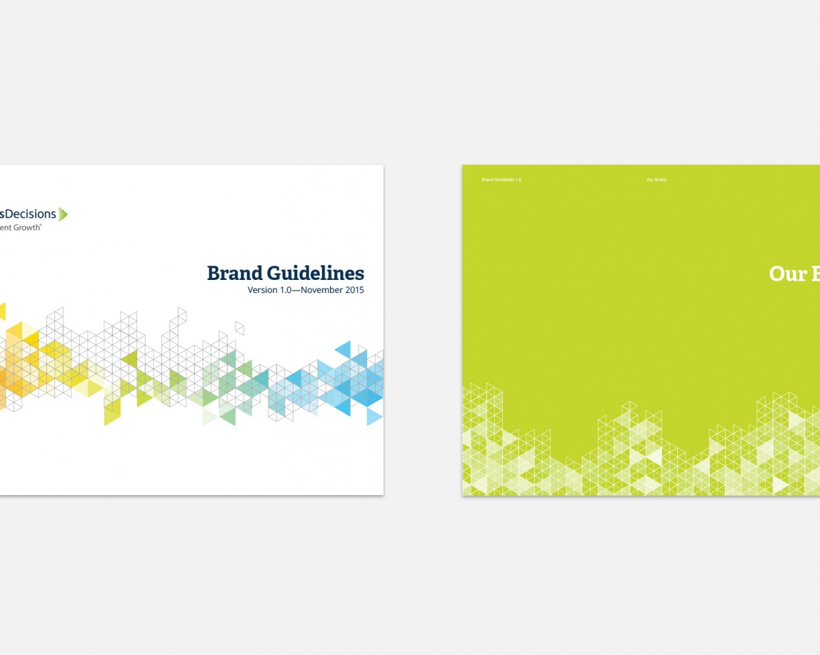 To guide everyone within SiriusDecisions, we crafted a comprehensive, yet readily accessible, Brand Guide document. The proper care and feeding of a refreshed brand is critical.
