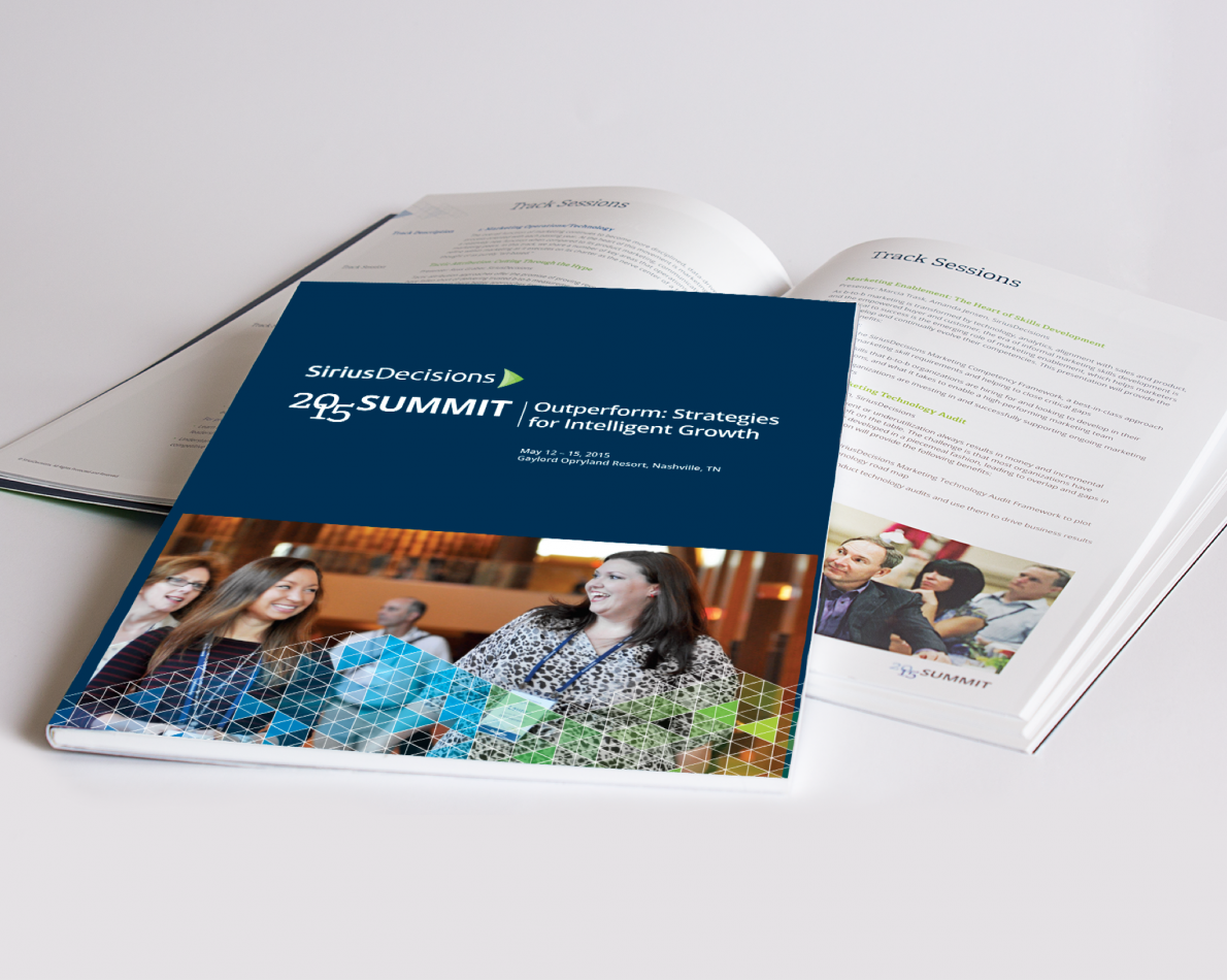 We've been a creative partner to SiriusDecisions for years. Here is 2015's brochure for the Summit Conference.