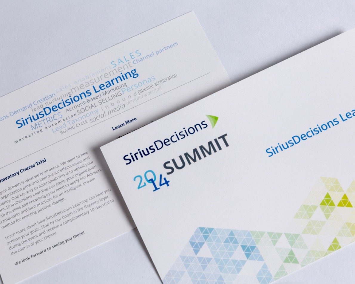 For the 2014 Summit Conference, we produced daily Learning Packets featuring the clean new design approach.