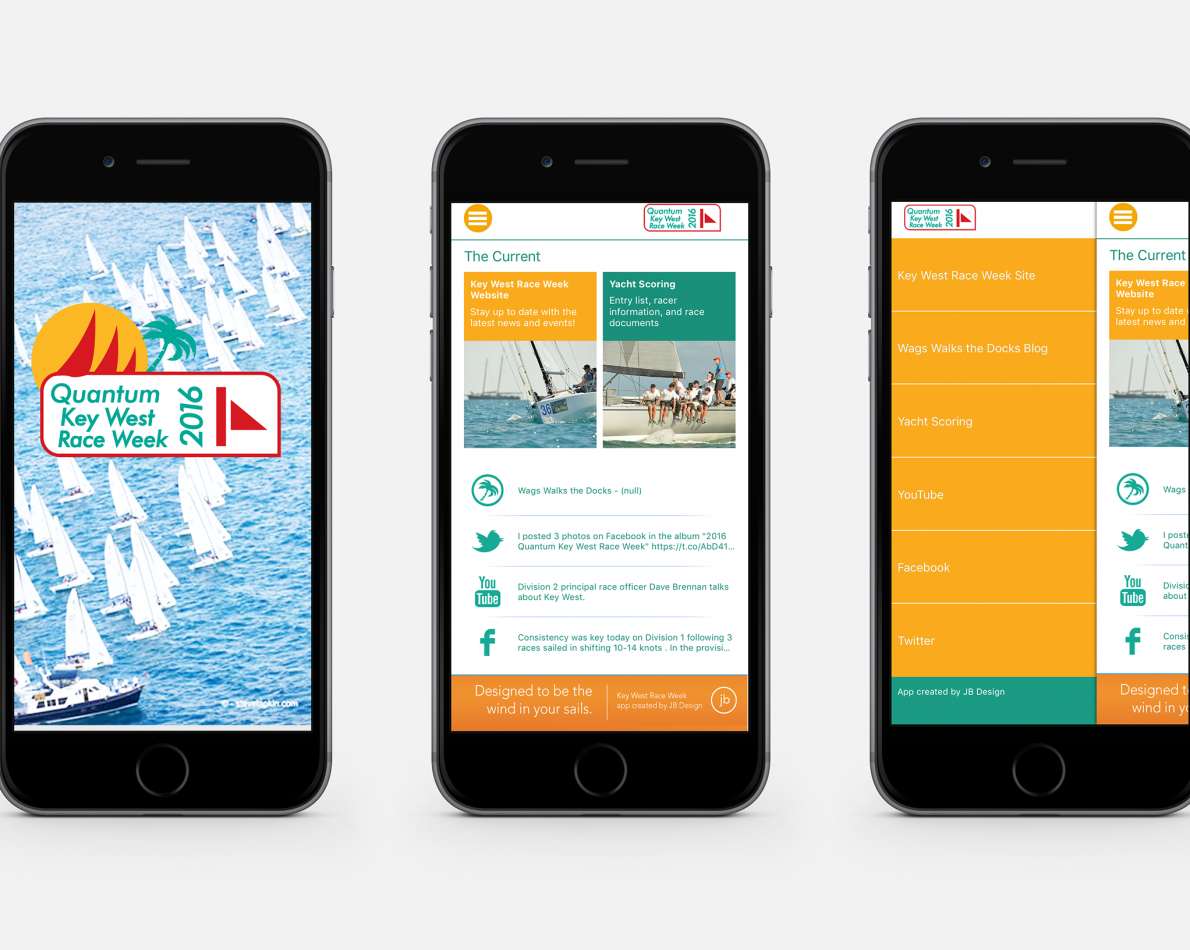 A successful launch of the Block Island Race Week lead to the development of a sister app for the Quantum Key West Race Week.