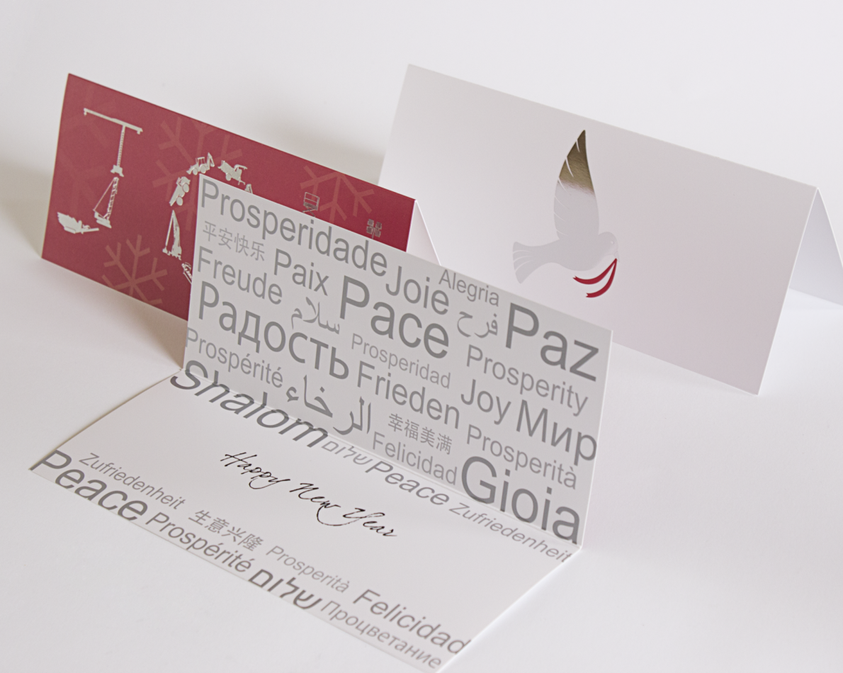A sampling of the Holiday Cards we've designed for Terex over the years