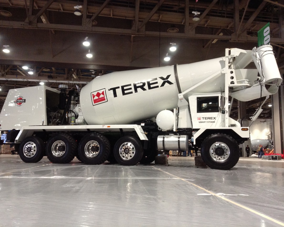 The Terex Logo in one of myriad applications – driving the new identity home