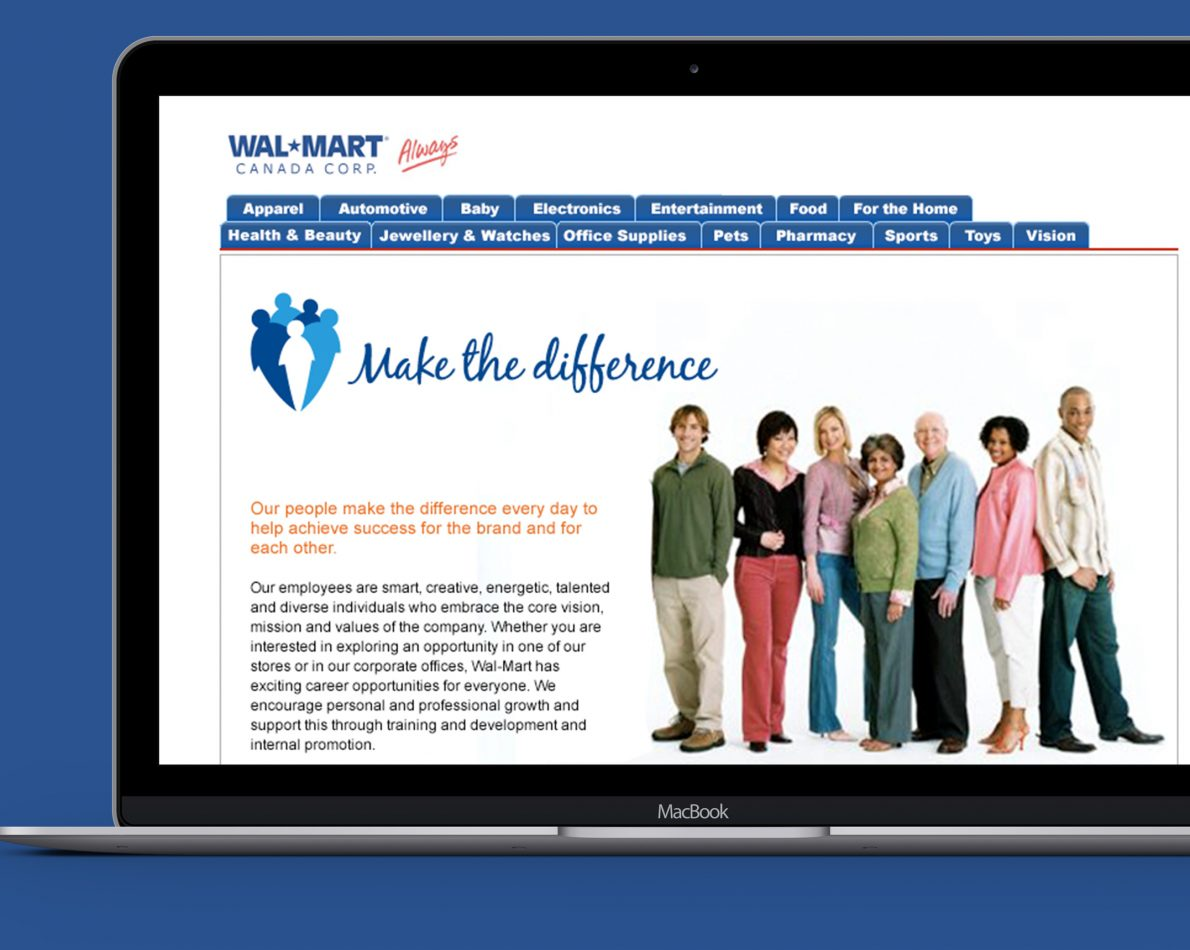 """We developed a new Careers website to engage the right people who could help """"Make the difference""""."""