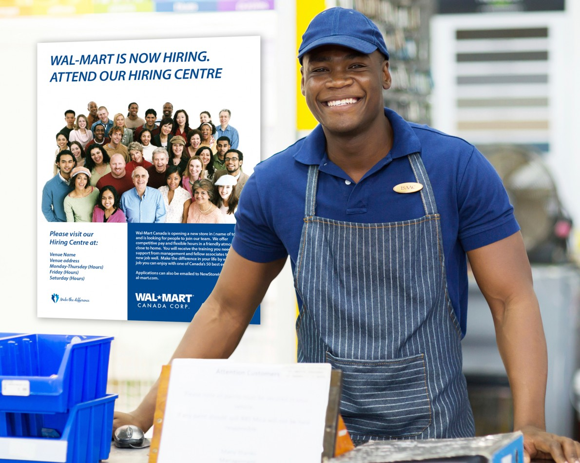 In-store signage carried the look and theme messaging throughout all Walmart Canada locations.