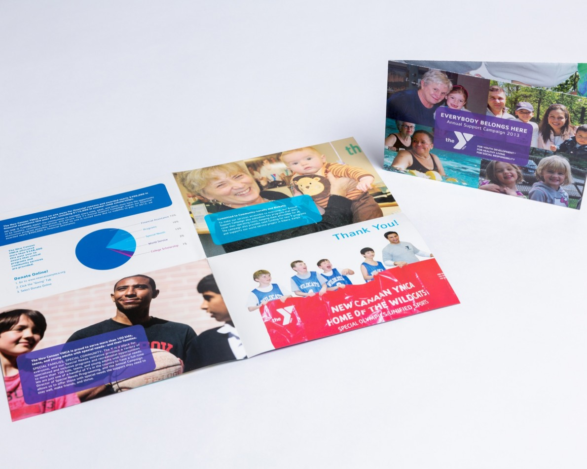 The all-important Appeals Campaigns – we've worked with the Y to create them for several fund-raising seasons